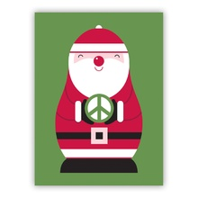 Peace Sign Santa (Folded)
