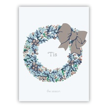 Holly Wreath Grey (Folded)