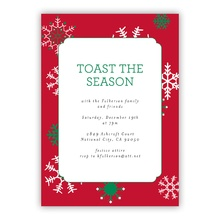 Snowflakes Red Invite