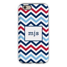 Chevron Blue & red