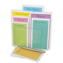 Pretty Pastel Pads - 7 pads of 75 sheets each in holder