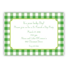 Classic Check Kelly & Lime Holiday Invite