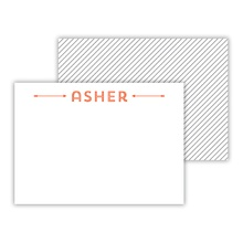 Mini Flat Cards - Pinstripes
