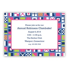 Nautical Flags Pinks (Announcement Version)