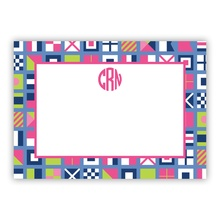 Nautical Flags Pinks (Stationery)