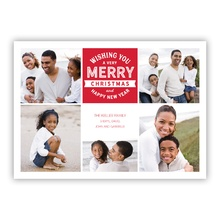 Merry Stamp Red Collage