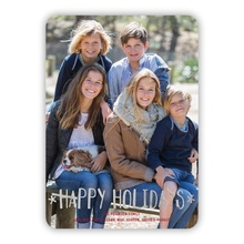 Cheerful Holidays Vertical Foil