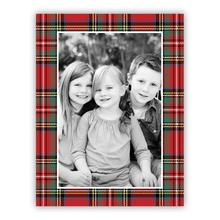 Tartan Plaid Red Vertical (folded)
