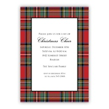 Tartan Plaid Red Vertical