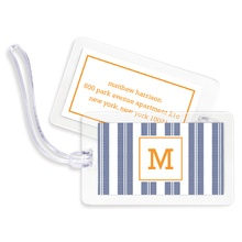 Bag Tags (set of 4) - Vineyard Stripe Raspberry