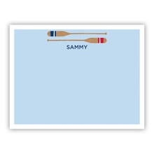 Stacked Oars Red (Stationery)
