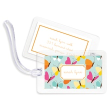 Bag Tags (set of 4) - Flutter Teal