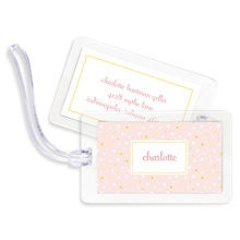Bag Tags (set of 4) - Twinkle Star Pink