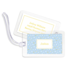 Bag Tags (set of 4) - Twinkle Star Light Blue