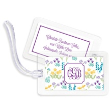 Bag Tags (set of 4) - Flower Fields Purple
