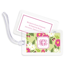 Bag Tags (set of 4) - Lillian Floral Bright