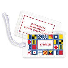 Bag Tags (set of 4) - Nautical Flags