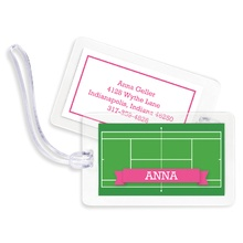 Bag Tags (set of 4) - Tennis Court