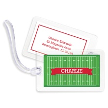 Bag Tags (set of 4) - Football Field