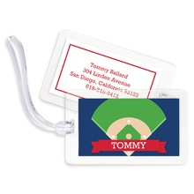 Bag Tags (set of 4) - Baseball Diamond