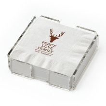 Beverage Napkins (set of 25) with holder - Stag