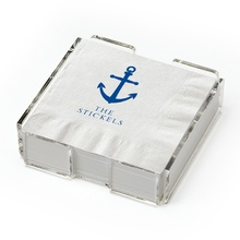Beverage Napkins (set of 25) with holder - Anchor