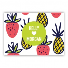 Fruity small folded note