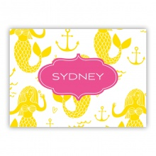 Mermaids small folded note