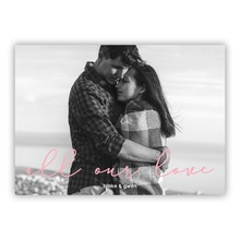 5x7 Flat Photocard - All Our Love Pink
