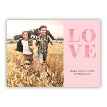 5x7 Flat Photocard - Extra Love Pink