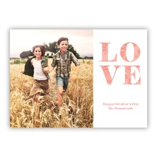 5x7 Flat Photocard - Extra Love White