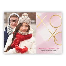 5x7 Flat Photocard - Gingham Kisses XoXo