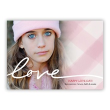 5x7 Flat Photocard - Gingham Kisses Love