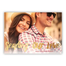 5x7 Foil Photocard - Sending Our Love FOIL