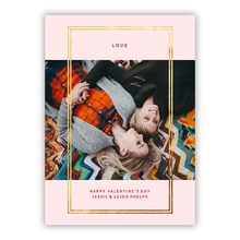 5x7 Foil Photocard - Double Border Pink FOIL