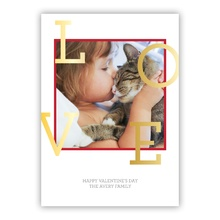 5x7 Flat Photocard - Love Initials Red