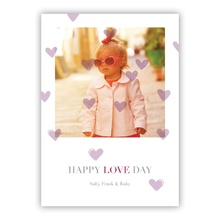 5x7 Flat Photocard - Oh My Heart Plum