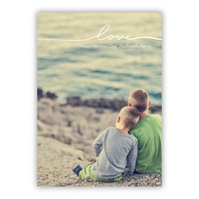 5x7 Flat Photocard - Only Love - White