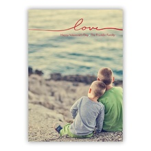 5x7 Flat Photocard - Only Love - Red