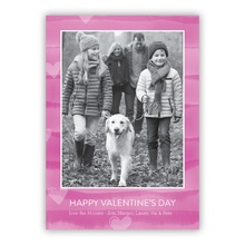 5x7 Flat Photocard - Painted Stripes Pink