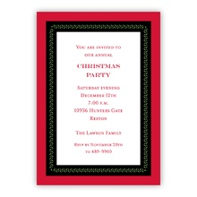 Vine Ribbon Red Invite