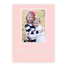 4.5x6.25 Foil Photocard - Warm Wishes Foil