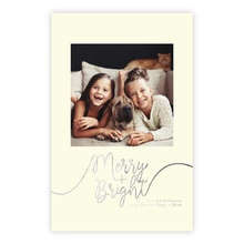 5.5x8.5 Foil Photocard - Whimsical Merry Foil