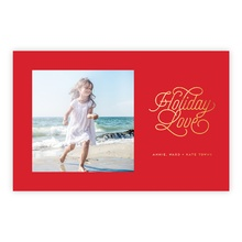 5.5x8.5 Foil Photocard - Holiday Love Foil