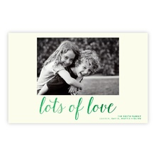 5.5x8.5 Foil Photocard - Lots of Love Foil