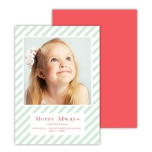 Deluxe Flat Foil Photocards (5x7) - Merry Always