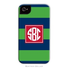 Sleek Cell Phone Case - Rugby Navy and Kelly