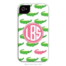 Sleek Cell Phone Case - Alligator Repeat