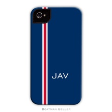 Sleek Cell Phone Case - Racing Stripe Navy and Red