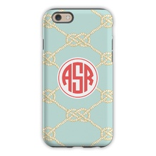 Sleek Cell Phone Case - Nautical Knot Sea